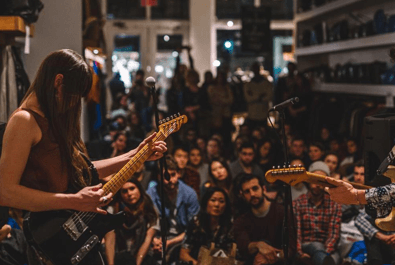 Audience at a Sofar show